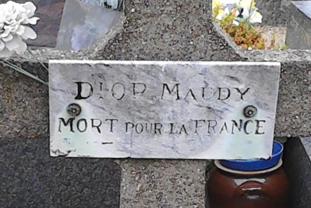DIOP Maudy Tombe Plaque